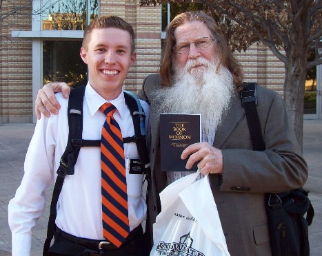 Elder H. with man on the street