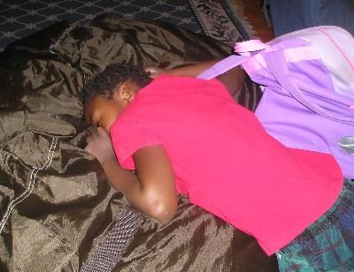 asleep on lovesac